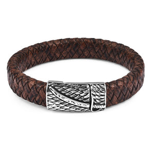 Saturn Braided Leather Bracelet
