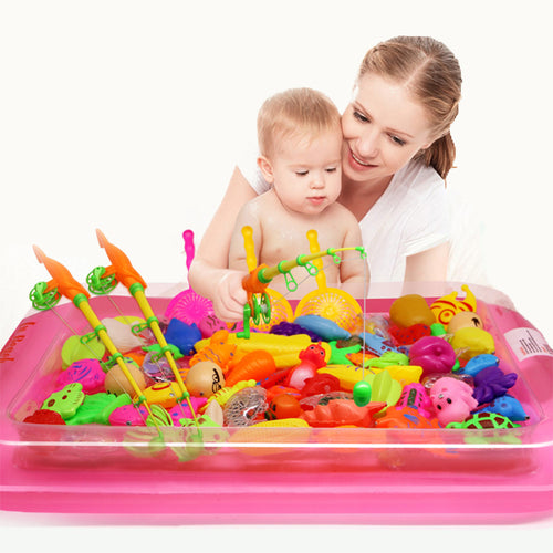 Magnetic Fishing Set with Inflatable Pool