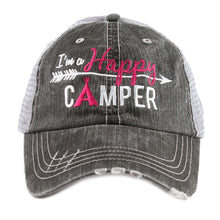 I'm A Happy Camper Trucker Hat