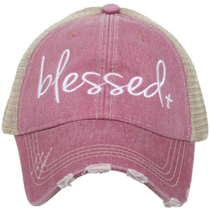Blessed with Cross Trucker Hat