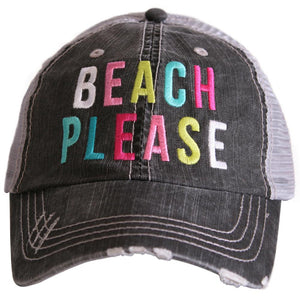 Beach Please Vintage Style Trucker Hat