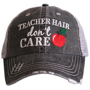 Teacher Hair Don't Care Trucker Hat