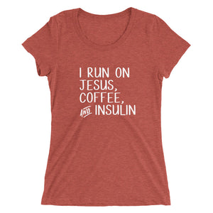 Jesus, Coffee, and Insulin Women's Tee