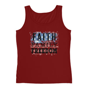 Faith, Family, Freedom Ladies' Tank
