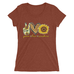 Peace Love Sunshine Tri-Blend Tee