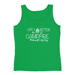 Life is Better by the Campfire Ladies' Tank