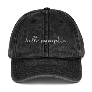 Hello Pumpkin Vintage Hat