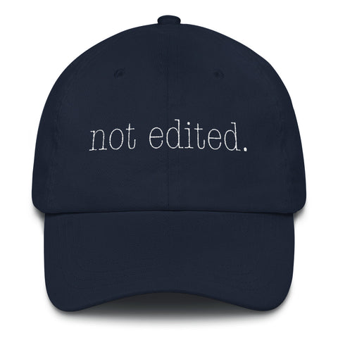 The Not Edited Type hat