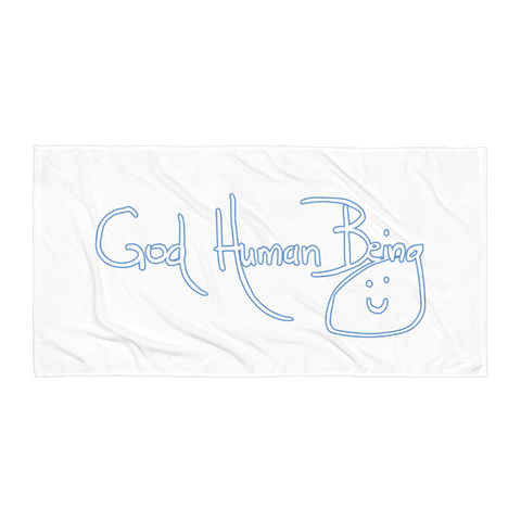 God Human Being towel