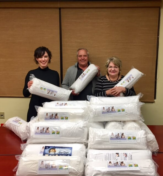 Align-Right Pillow Company donates to Violence Against Women Services Elgin County