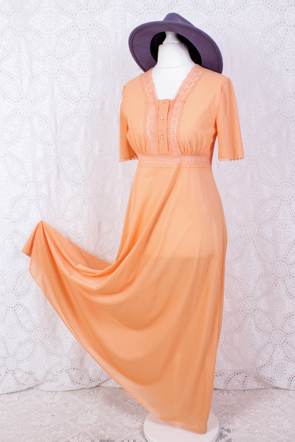 SALE - Vintage Nighty - Bright Peach - Size XS