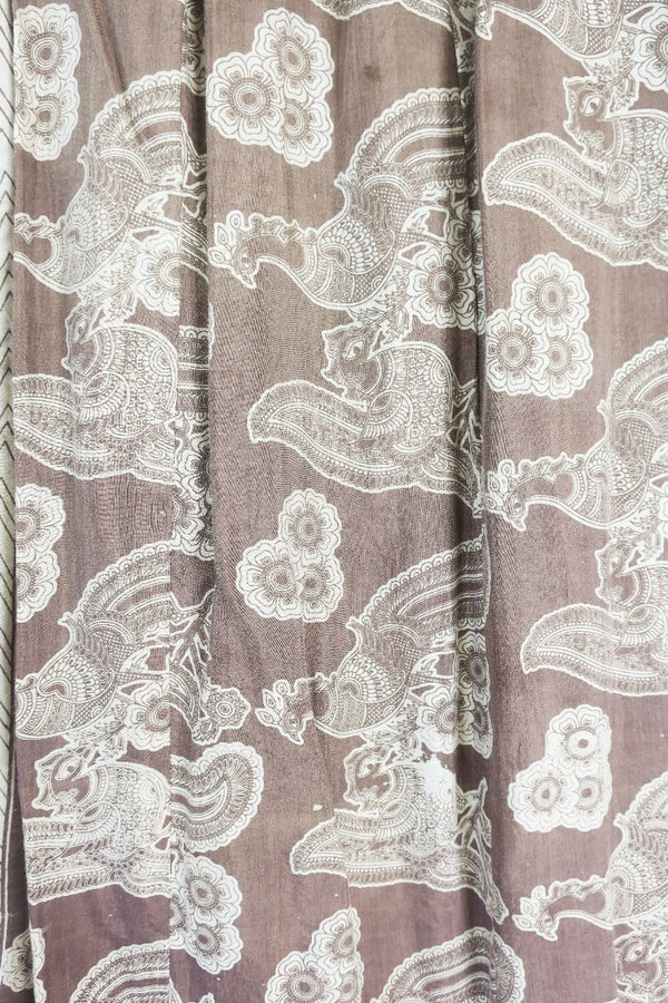 Vintage Wrap Dress - Onyx & Bright Florals - Size S/M