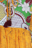 Sylvia Wrap Dress - Vintage Indian Sari - Watermelon & Honey (XS - S)