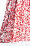 Sylvia Wrap Dress - Vintage Indian Sari - Royal Blue & Blush Floral (S - M/L)