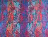 Cobalt, Tiger & Ruby Paisley Indian Shawl/Blanket