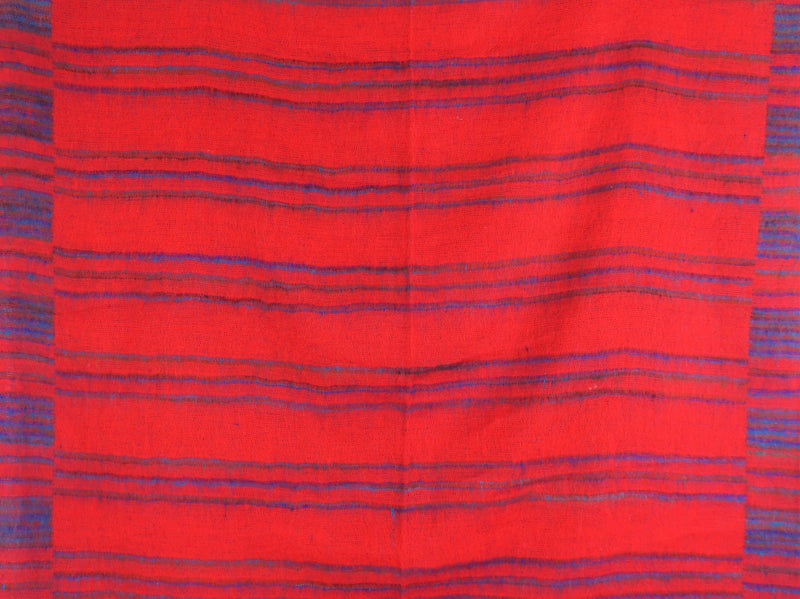 Candy, Cerulean & Lapis Striped Indian Shawl/Blanket