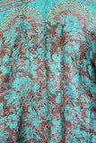 Suki Jumpsuit - Vintage Silk Sari Mix - Cream, Purple & Lilac Paisley - M/L