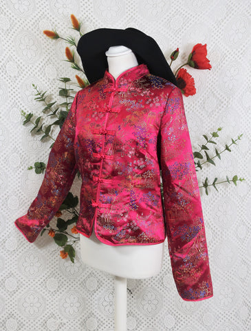 Chinese Brocade Fuchsia Jacket - XS/S