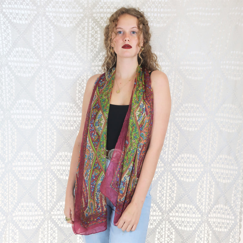 Pure Silk Indian Scarf - Pink