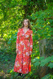 Vintage Button Down Dress - Soft Red Floral - Size M