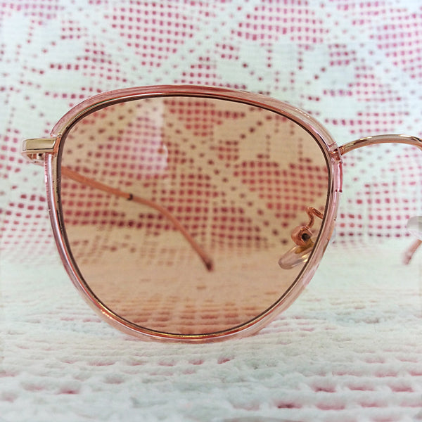 Rose Pink Rectangle Sunglasses