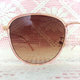 Pink & Gold Square Sunglasses