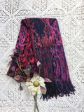 Purple Multicolour Floral Paisley Indian Shawl/Blanket