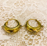 Medium Gold Painted Brass Hoop Earrings