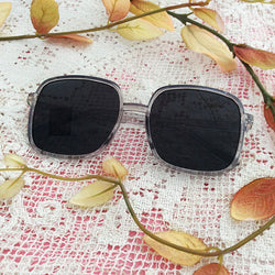 Crystal Black Square Sunglasses