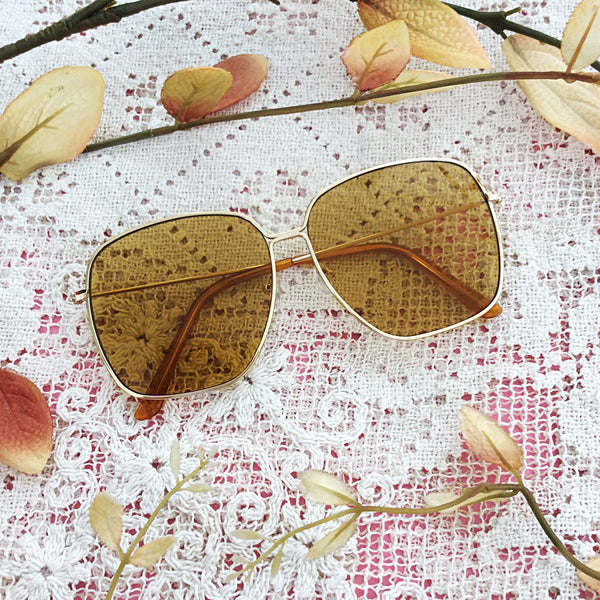 Square Gold & Mustard Sunglasses