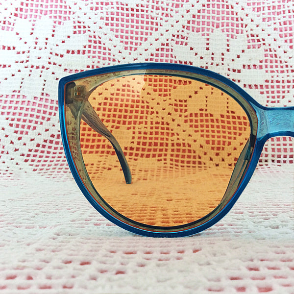 Turquoise Cat Eye Sunglasses