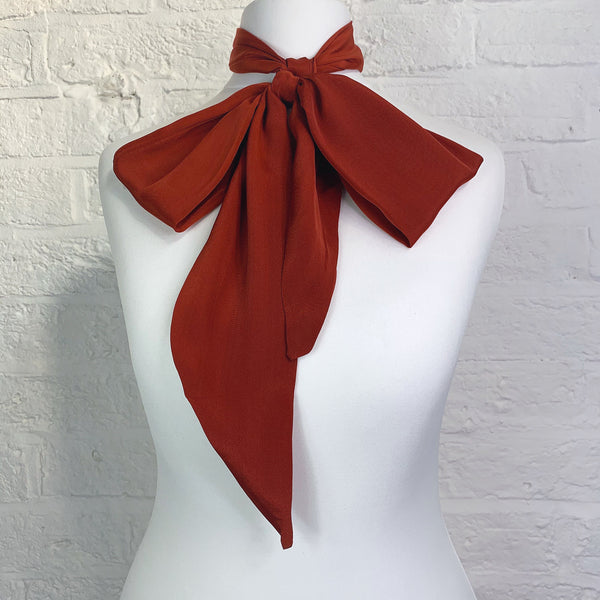Skinny Scarf - Rust Red Orange