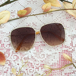 Oversized Gold Sunglasses