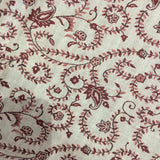 Indian Pashmina Shawl - Ruby Red + Cream Paisley