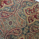 Indian Pashmina Shawl - Potter Blue & Regal Red Paisley