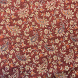 Indian Pashmina Shawl - Rust Red & Beige Paisley