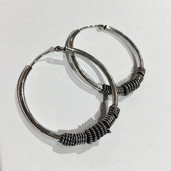 Indian Hoops w/ Mixed Detailing (Size M)