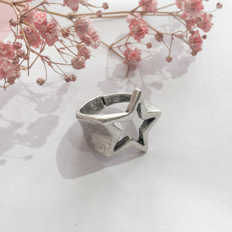 Silver Plated Shooting Star Ring