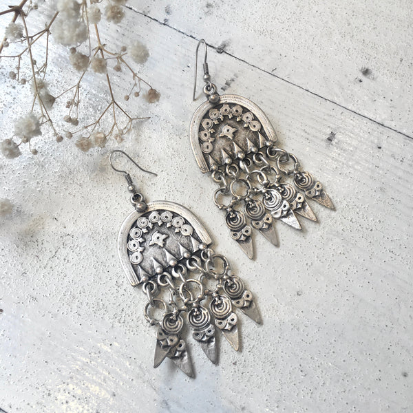 Silver Plated Turkish Drop Earrings