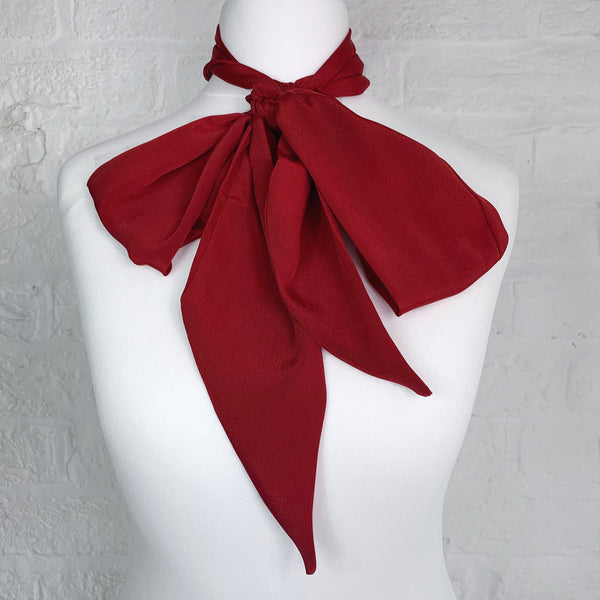 Skinny Scarf - Ruby Red