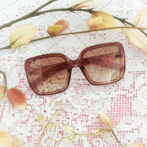 Chunky Square Sepia Sunglasses