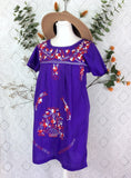 Embroidered Mexican Floral Gypsy Smock Top/Dress Size XS / S