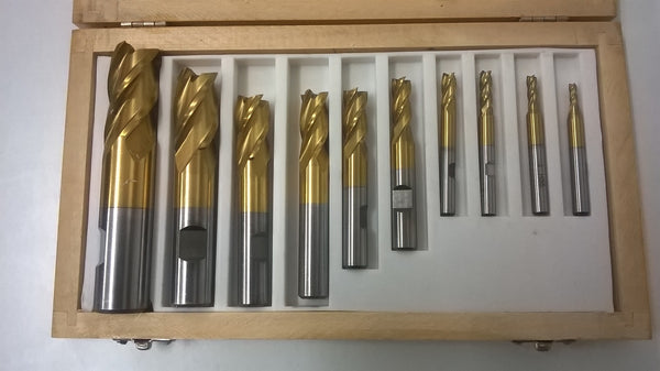 End mill set 4Flute