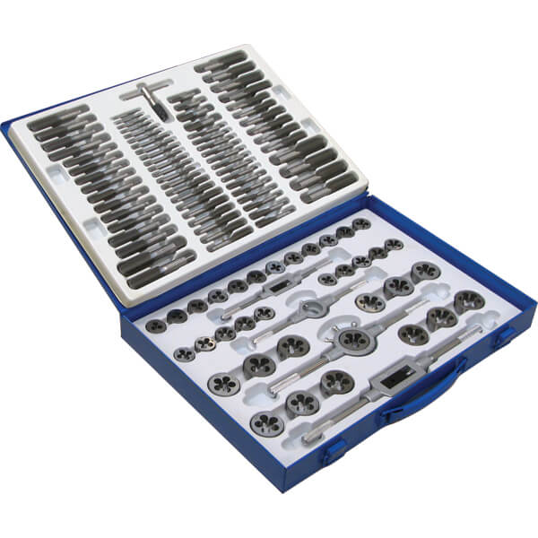 110 pieces metric tap and die set
