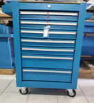 7 drawer tool cabinet blue