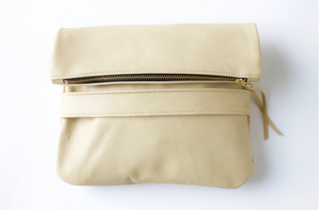 The Mary Fold Over Clutch | Vanilla