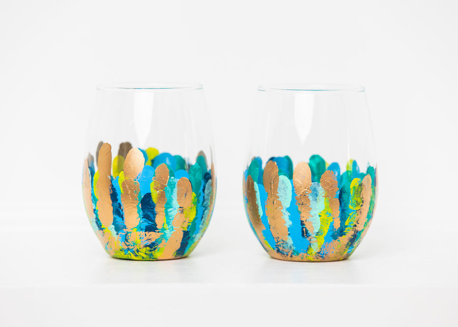 Multiblues Stemless Glass