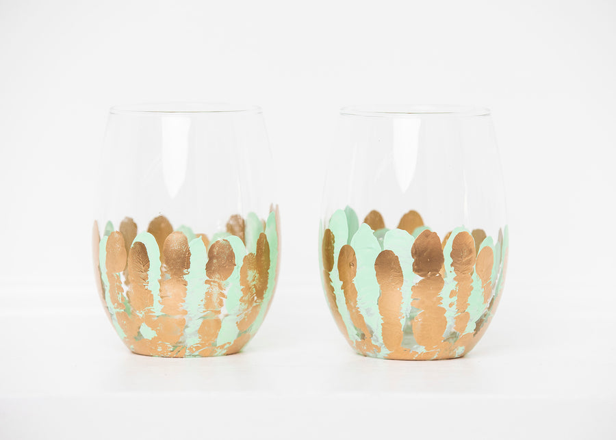 Mint Stemless Glass