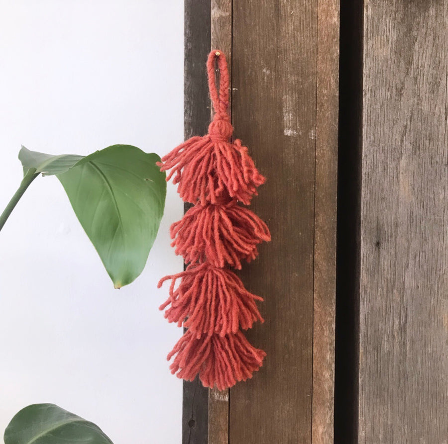Naturally Dyed Wool Tassel | Umber