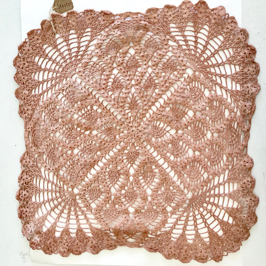 Avocado Dyed Doily